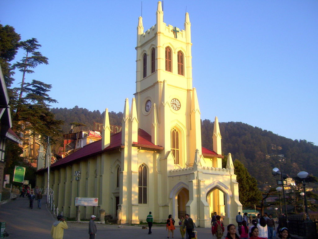 delhi to mussoorie christ church